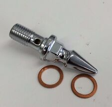 CHROME SPIKE BANJO BOLT 10mm Harley xs650 cb750 hd yamaha chopper bobber cafe