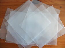 "10 x 7"" inch Vinyl Single Plastic Polythene Record Sleeve Covers 450 Gauge 45rpm"