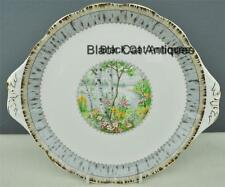 Lovely Royal Albert Silver Birch Bone China Cake Plate Made In England