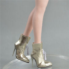 """shoes for 1/6 female phicen seamless 12"""" kumik hot toys stuff Gold 36vsos03"""