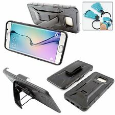 Samsung Galaxy Note 5 Belt Clip Holster Shell Combo Phone Case / KickStand Cover