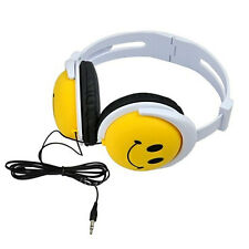 Cute Smile Face Children Kids Foldable Headband Headphones Earphone Headset