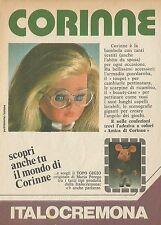 X4703 Corinne è una bambola ITALOCREMONA - Pubblicità 1975 - Advertising