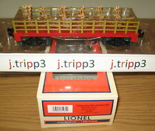 LIONEL 6-81984 CHRISTMAS FLATCAR #1887 w REINDEER TOY TRAIN CAR O GAUGE FREIGHT