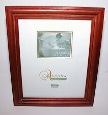 "ALYSSA SOLID OAK COLLECTION 8"" x 10"" RED Wood PICTURE FRAME Tabletop or Wall EUC"