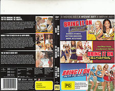 Bring It On:Again/All or Nothing/In It To Win It-Bethany Joy Lenz-3 Movie-3 DVD