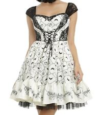 NIGHTMARE BEFORE CHRISTMAS GOTHIC JACK SKELLINGTON CORSET PARTY DRESS HALLOWEEN