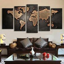 NOT FRAMED HD Canvas Print home decor wall art Picture The world map 05