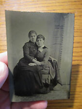ca 1870 Tintype Photo - Affectionate Women - Embraced - on Lap - Gay Lesbian
