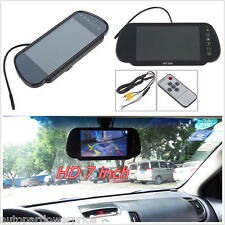 "7""HD Color Screen Car Reverse Rear View Backup Camera DVD Mirror Monitor+ Remote"