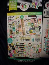 Happy Planner FITNESS STICKER BOOK 30pgs 1475pc Record keep,Inspirational Quotes