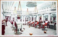1920 Barber Shop Postcard: Blackstone Hotel Interior - Chicago, Illinois IL