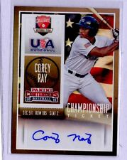 2015 Playoff Contenders CHAMPIONSHIP Ticket Corey Ray AUTO RC Louisville #1/1