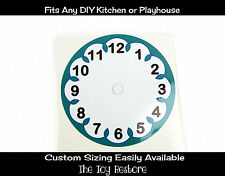 DIY Decal Sticker fits Generic Step 2 Kitchen PLayhouse Clock no hand Face White