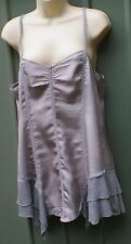 GREY satin tunic top size 14