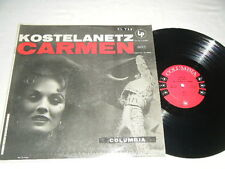 KOSTELANETZ LP BIZET Carmen 1955 Columbia 6 Eye  CL-735 EX to NM