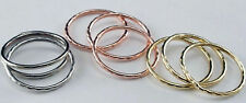 Gold Ring 9 Piece Set White Yellow Rose Knuckle Band Thumb Midi Finger Girls