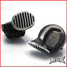 12V Loud Twin Dual Tone Snail Air Horns Siren Cars,Trucks,Vans,Boats Motorcycle