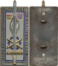 Ecole de Spécialisation du Matériel, fond gris, 2 pontets, Delsart 2514 (4263)