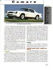 1978 Camaro Z28 Article + VIN Decode - Must See !!