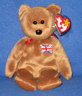 TY BRITANNIA the BEAR BEANIE BABY - UK EXCLUSIVE - MINT with MINT TAGS