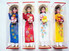 Set 4 DOLL 12'' ASIAN -Vietnam -Vietnamese DOLL with dress and hat - New dolls