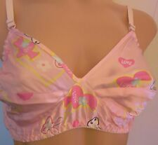 VINTAGE LOOK  PINK BUNNY LOVE  PURE SILK WIRE-FREE GLAMOUR POSING BRA 40