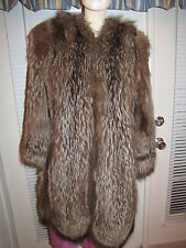 Raccoon 3/4 Length Fur Coat - Small -  Medium