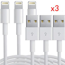 3x Lightning USB Charger Sync Data Cable For Apple iPhone 5s 6 6s plus Ipad Air