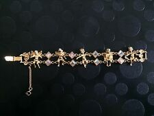 Kirks Folly Cherubs Bracelet In Gold Tone. New Without Box