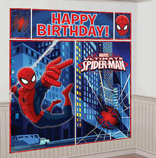 Spider-Man Scene Setters Happy Birthday Banner Decorations party Supplies Favor