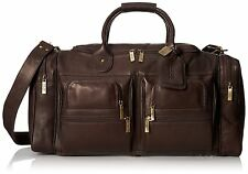 Claire Chase Executive Sport Leather Duffel - XL Travel Bag, Carry on in Cafe