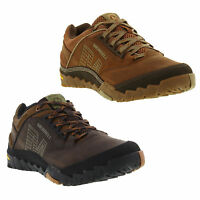 Merrell Annex Mens Dark Brown and Light Brown Leather Walking Shoes Trainers