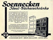 F. Soennecken Bonn Berlin Ideal- Bücherschränke Klassische Annonce 1930