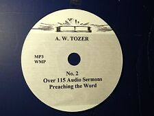 A.W. TOZER, No. 2 Over 115 Audio Sermons, MP3 one CD