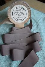 """10 yard 1 1/2"""" wide vintage roll grosgrain grey ribbon millinery hat dress (137)"""