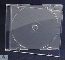 5 CD SINGOLA JEWEL CASE ULTRA SLIM 5,2 mm satinato chiaro vuoto RICAMBIO HQ AAA
