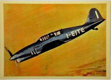 """Cartolina Aviazione - Aereo S.A.I. Ambrosini """"Super S. 7"""" - Non Viaggiata"""