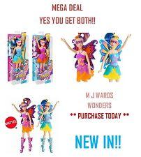 Mega Deal-Barbie Princesa Muñeca Mariposa de energía en – Azul y Púrpura