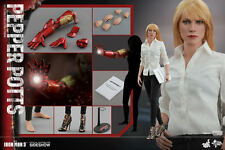 HOT TOYS IRON MAN 3 PEPPER POTTS GWYNETH PALTROW 1:6 FIGURE ~Sealed Brown Box~