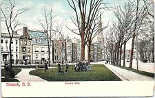 1908 Postcard Newark New Jersey NJ Lincoln Park People Posing Street Scene