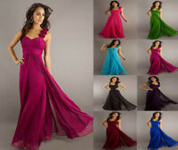 New Formal Prom/Bridesmaid Cocktail Party Evening Dress Chiffon Size 6-18 Make