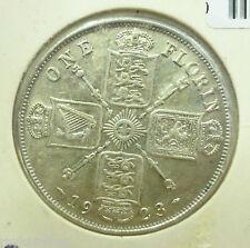 Moneta Mezzo Fiorino Britannico 1923 George Giorgio V Argento