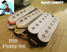 G.M. HSS PICKUP SET (Neck, Middle(RWRP)bridge humbucker)White