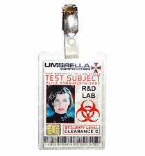 Resident Evil ID Badge Umbrella Corp Test Subject Alice Cosplay Halloween