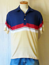 VTG 80's OCEAN PACIFIC Striped OP Surfer Beach MEDIUM Thin Skate POLO SHIRT