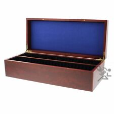 Lighthouse Mahogany Wood Finish Storage Box for 50 Certified Graded Coin Slabs