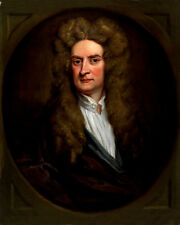 1702 Scientist SIR ISAAC NEWTON Glossy 8x10 Photo Print Oil Painting Poster