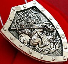 PROTECTIVE WARRIOR SHIELD.ORTHODOX PENDANT - SAINT GEORGE GREATMARTYR.SILVER 925