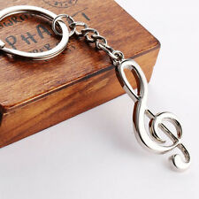 HJ Music Phonogram Keyring Alloy Key Holder Ring Pendant Bag Chain Creative Gift